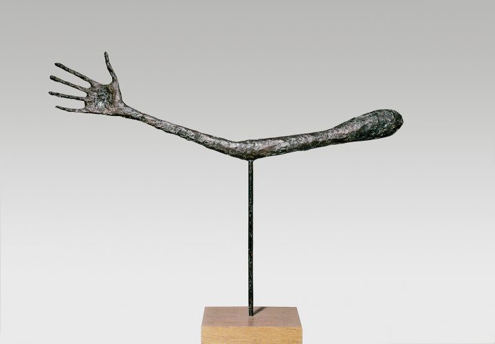 What texture did giacometti use on his sculptures