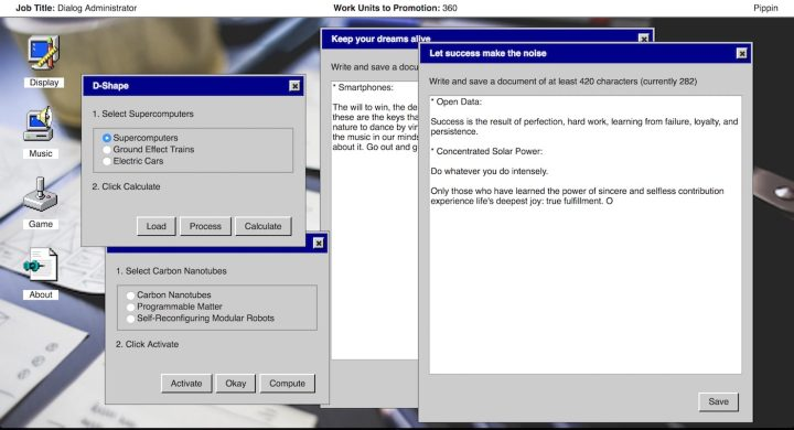 Screenshot of <em>It is as if you were doing work</em> (courtesy Pippin Barr)