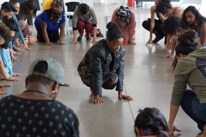 The Kandake Dance Theater for Social Change, workshop for adults (photo courtesy of Olga El)