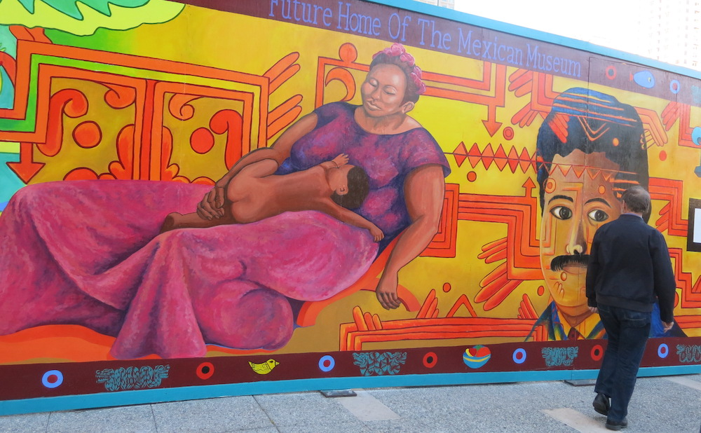 A mural at the future site of the Mexican Museum in downtown San Francisco (photo by torbakhopper/Flickr)