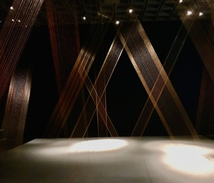 """Installation view of Lygia Pape's """"Ttéia 1, C"""" (1976–2004) at the Met Breuer (photo by Bia Wouk)"""