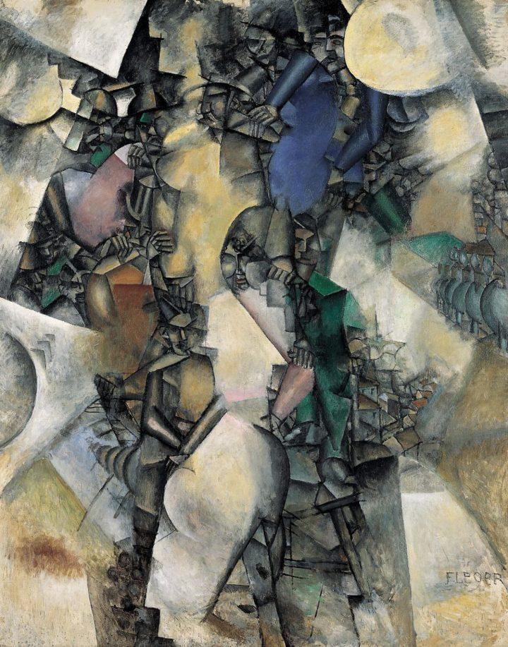 """Fernand Léger, """"La Noce"""" (1911–12), oOil on canvas, 257 x 206 cm (Collection Centre Pompidou, Paris, Musée national d'art moderne - Centre de création industrielle; © Centre Pompidou, MNAM-CCI/ Dist. RMN-GP © Adagp, Paris, 2017)"""