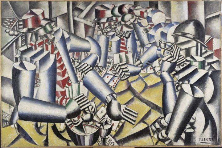 """Fernand Léger, """"La partie de cartes"""" (1917), oil on canvas, 129.5 x 194.5 cm (Otterlo, Musée Kröller-Müller © Adagp, Paris, 2017)"""
