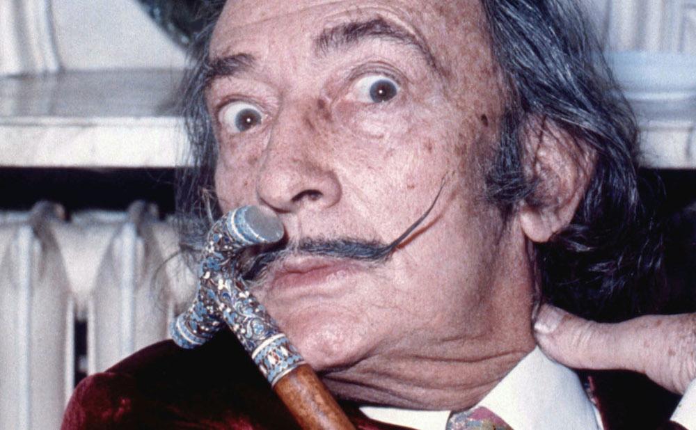 Salvador Dalí in 1972 (photo by Allan Warren, via Wikimedia Commons)Salvador Dalí in 1972 (photo by Allan Warren, via Wikimedia Commons)