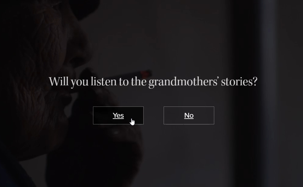 The Space We Hold interactive documentary (screenshot via National Film Board of Canada)