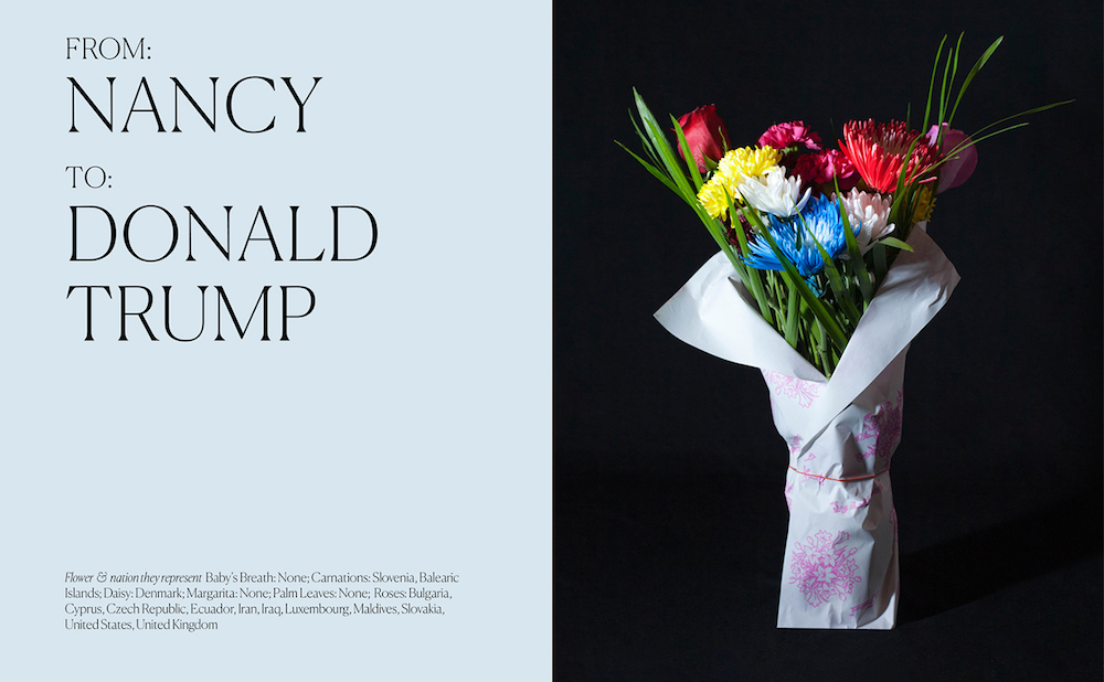Undocumented Immigrants Create Floral Arrangements for Trump