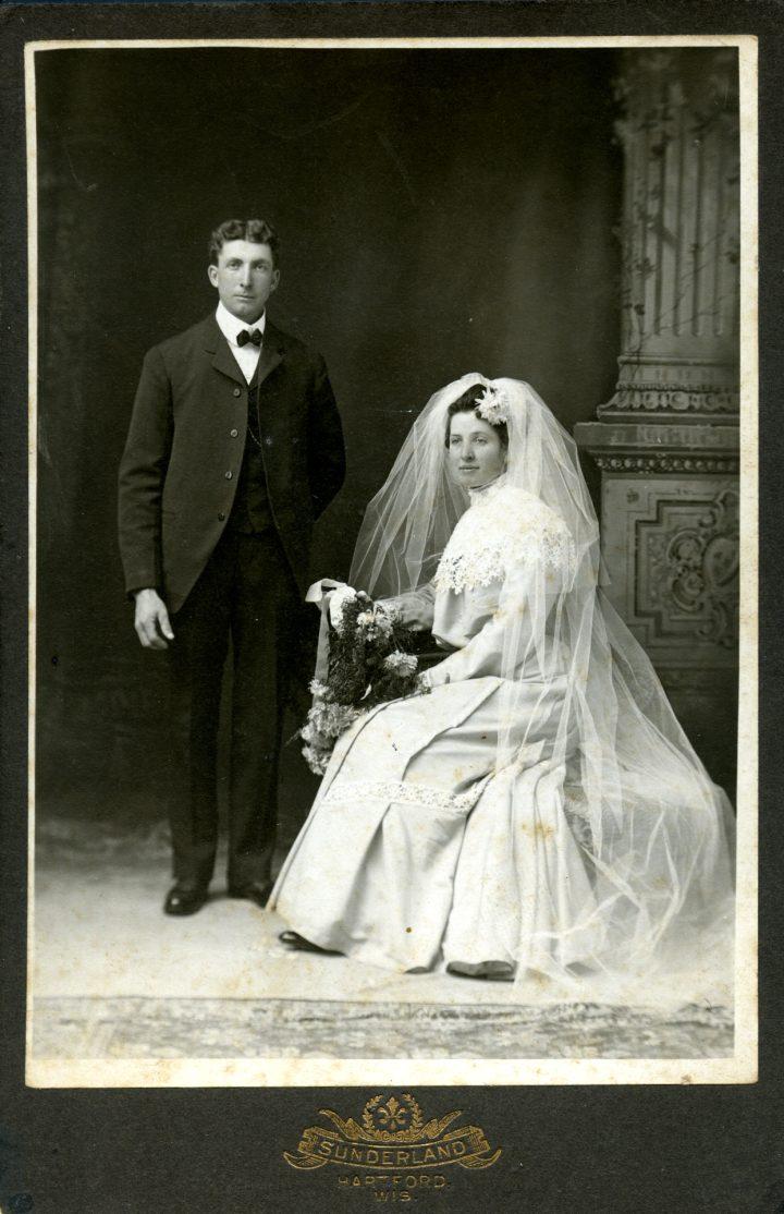 the somberness of 19th century wedding portrait photos