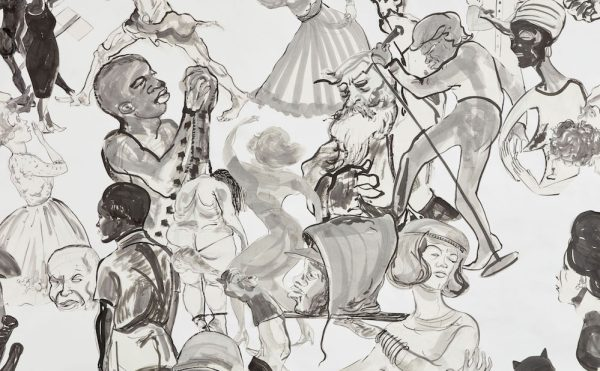 """Kara Walker, """"Christ's Entry into Journalism"""" (2017), Sumi ink and collage on paper, 151 x 191 in (© Kara Walker, courtesy of Sikkema Jenkins & Co., New York)"""