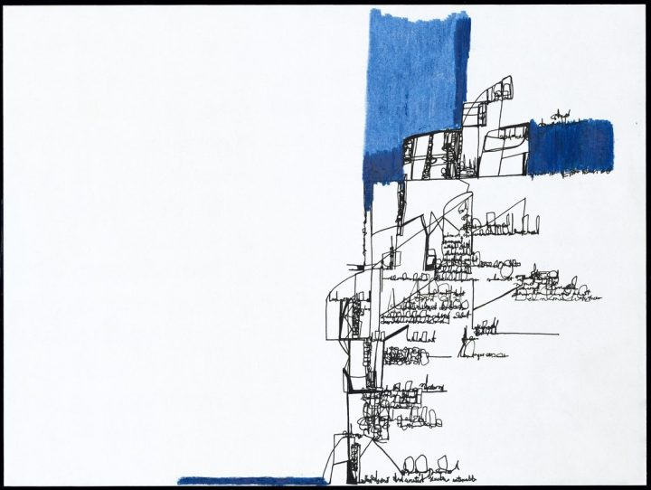 drawings that trace the contours of thought