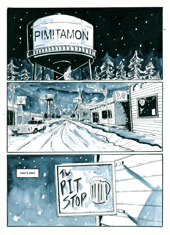 a comics artist draws on emotional isolation and domestic strife