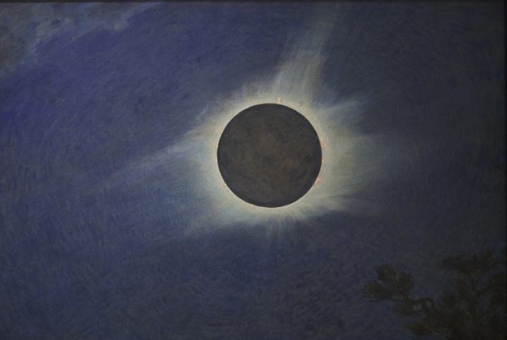 """Howard Russell Butler, """"Solar Eclipse"""" (1925), oil on canvas (gift of H. Russell Butler Jr., courtesy Princeton University Art Museum)"""