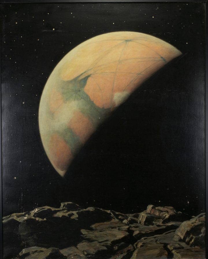 """Howard Russell Butler, """"Mars as seen from Deimos"""" (nd), oil on canvas (gift of H. Russell Butler Jr., courtesy Princeton University Art Museum)"""