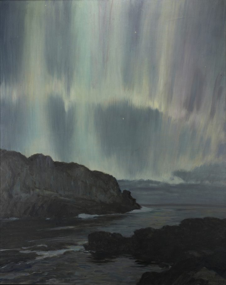 """Howard Russell Butler, """"Northern Lights, Ogunquit, Maine"""" (nd), oil on canvas (gift of H. Russell Butler Jr., courtesy Princeton University Art Museum)"""