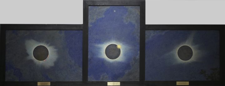 """Howard Russell Butler, """"Solar Eclipse"""" (1918–25), oil on canvas (triptych) (gift of H. Russell Butler Jr., courtesy Princeton University Art Museum)"""