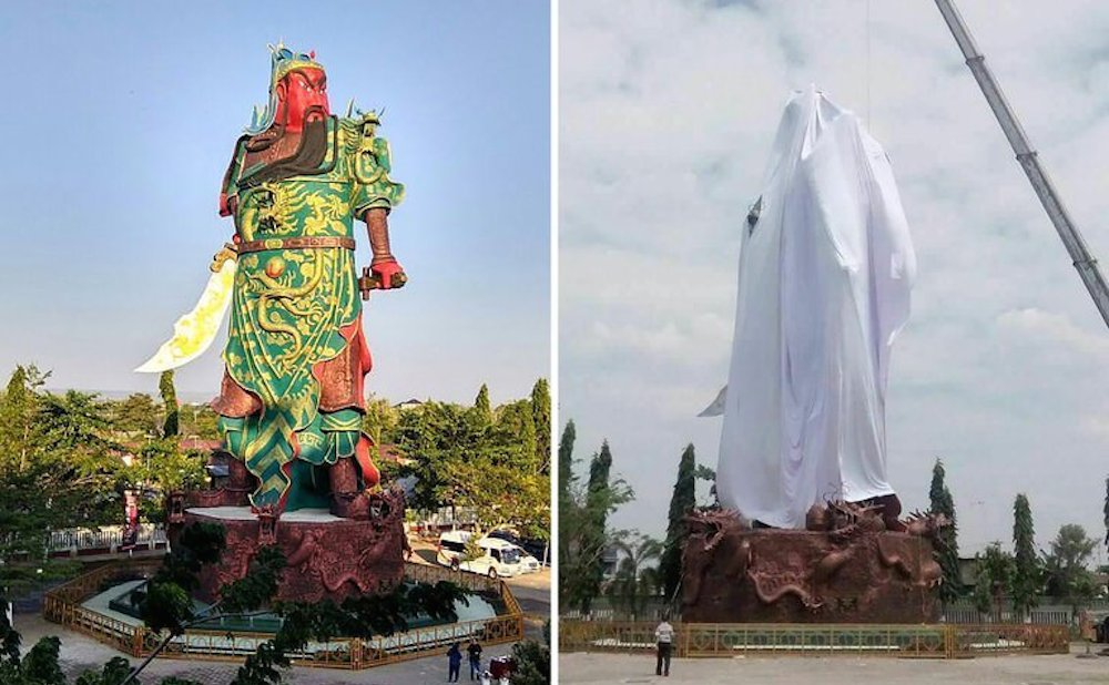 Religious Extremists Pressure Indonesian Temple to Cover ...