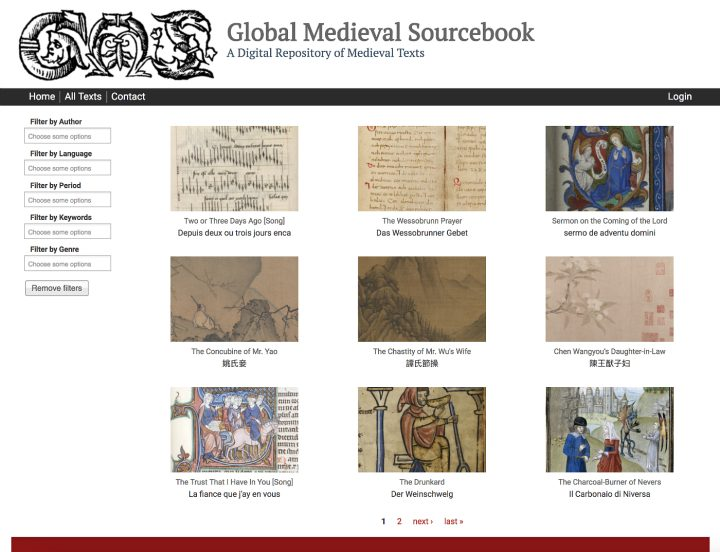 Global Medieval Sourcebook (screenshot by the author for Hyperallergic)