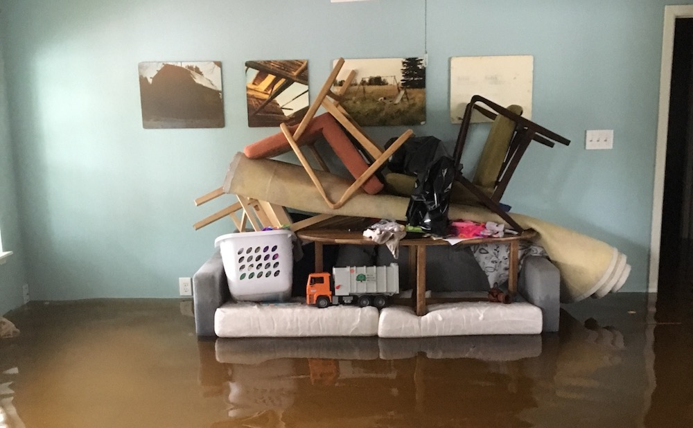 Flooding in the home of artist Keliy Anderson-Staley (courtesy the artist)