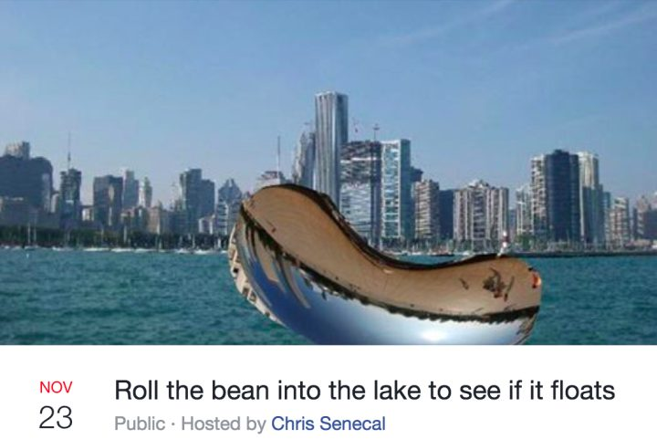 bean float 720x481 anish kapoor's bean will be windexed, baked (by guy fieri), turned