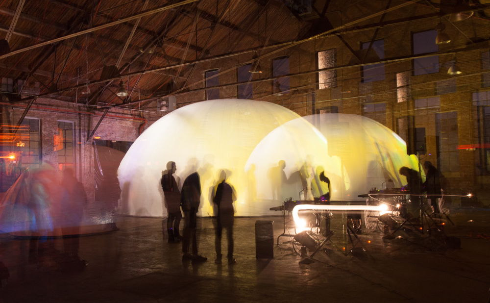 A previous dome performance by RE (photo by Travis Peck)
