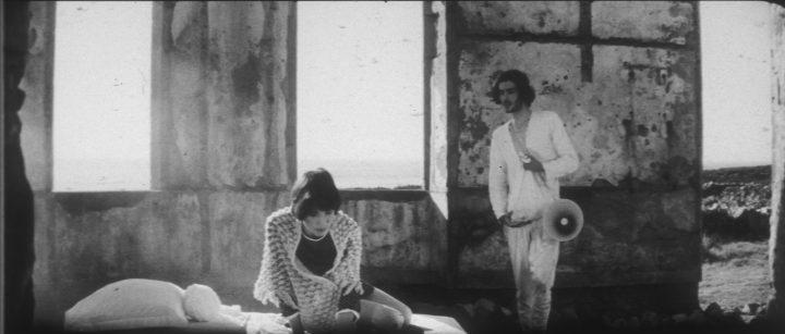 Marie (Zouzou) and Jesus (Pierre Clementi) in Le Lit de la Vierge (courtesy of the Film Desk)