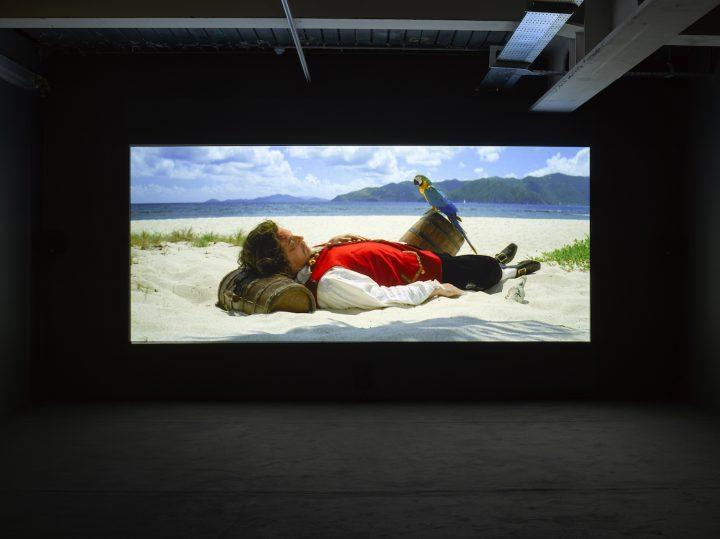 """Rodney Graham, """"Vexation Island"""" (1997),35mm film transferred to DVD (photo by Jack Hems, © Rodney Graham, courtesy Lisson Gallery)"""