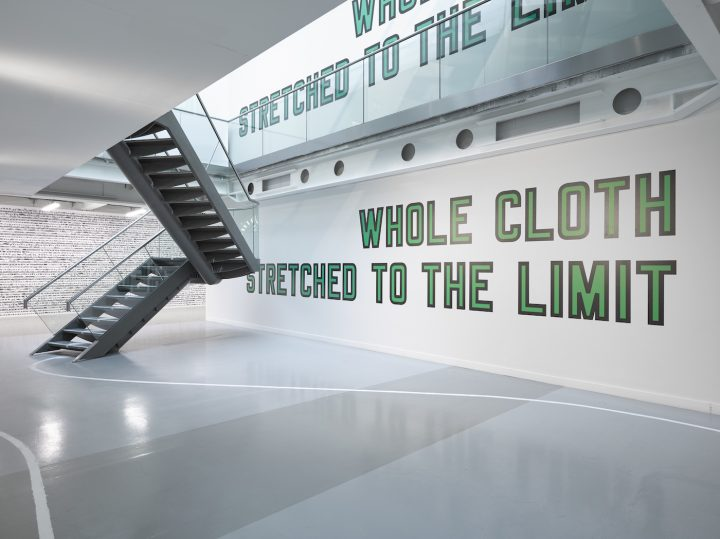 """Lawrence Weiner, """"WHOLE CLOTH STRETCHED TO THE LIMIT"""" (2013) (pPhoto by Jack Hems, © Lawrence Weiner, courtesy Lisson Gallery)"""