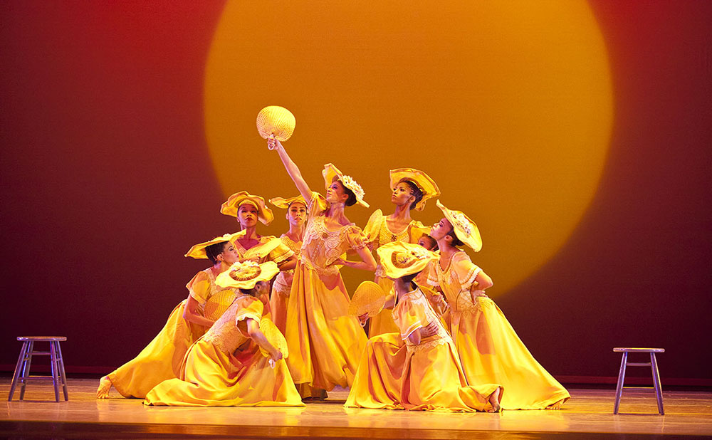 Alvin Ailey American Dance Theater in Alvin Ailey's Revelations (photo by Gert Krautbauer)