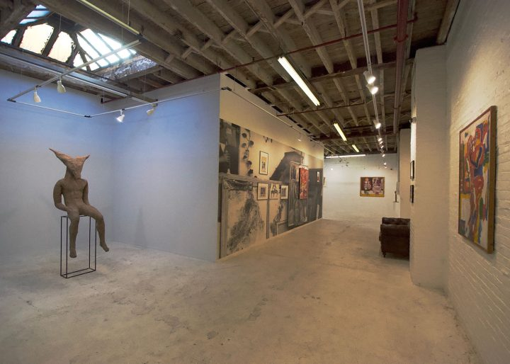 Installation view of A Walking Lesson: ABAKANOWICZ / MARKOWSKI at Green Point Projects (Hrag Vartanian/Hyperallergic)