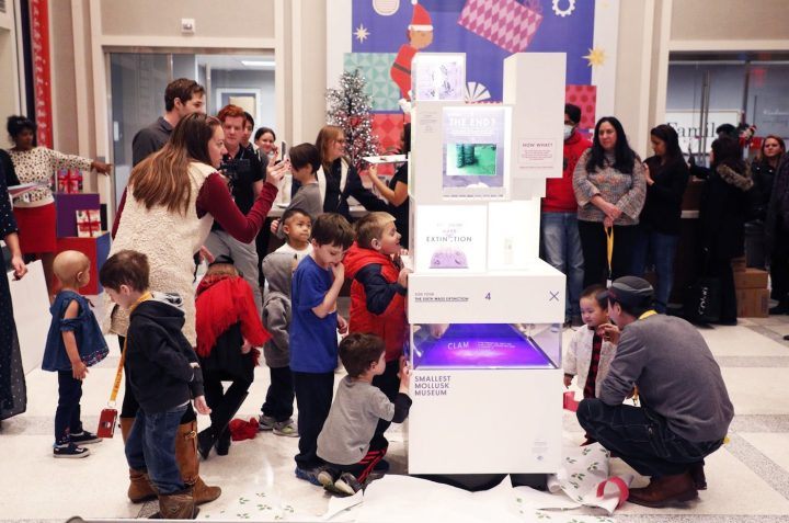 MICRO unveiling a Smallest Mollusk Museum on December 12 at Ronald McDonald House in New York (photo by Taylor Hill/Getty Images for Ronald McDonald House)