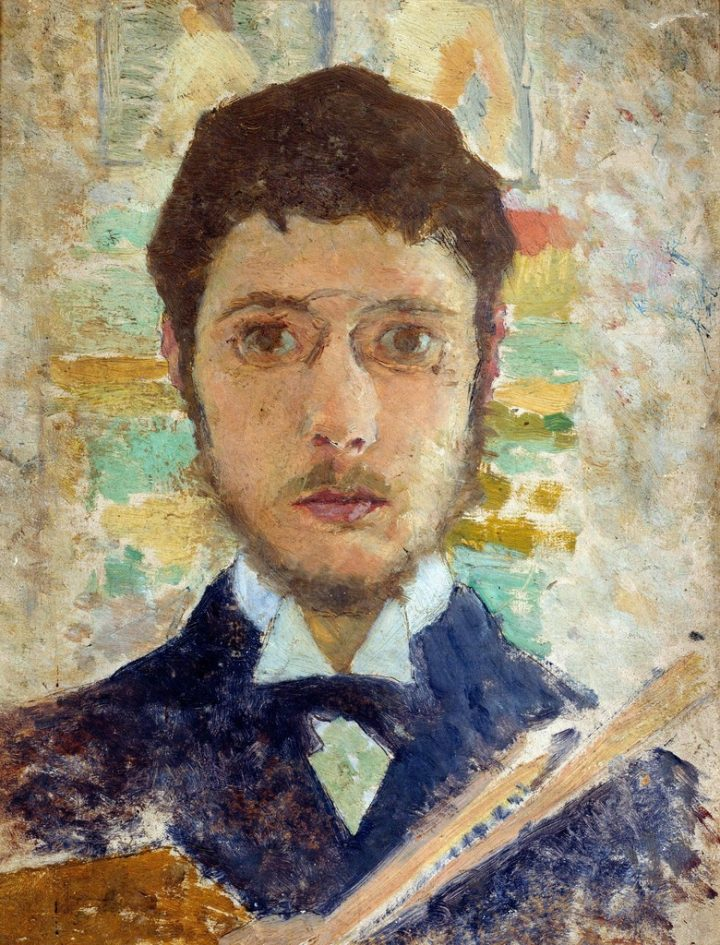 "Pierre Bonnard, ""Self Portrait"" (1889), oil on canvas (via Wikimedia)"