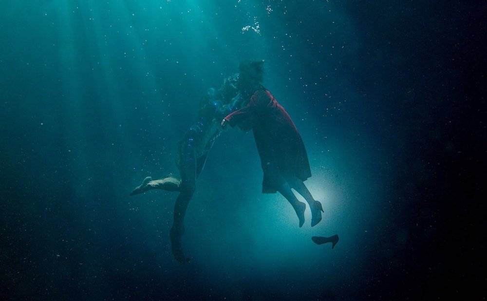 A scene from The Shape of Water, featuring Doug Jones and Sally Hawkins (all images courtesy Fox Searchlight Pictures)