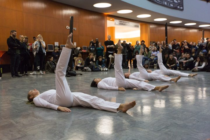 A performance at the Brooklyn Public Library's Central Library during 2017's edition of A Night of Philosophy and Ideas (all photos by Gregg Richards, courtesy the Brooklyn Public Library)