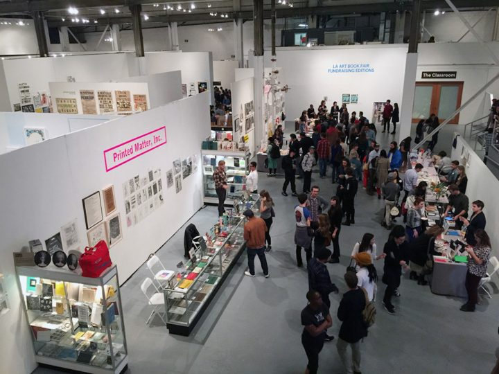 The Printed Matter table at the 2015 Los Angeles Art Book Fair (photo by Hrag Vartanian/Hyperallergic)