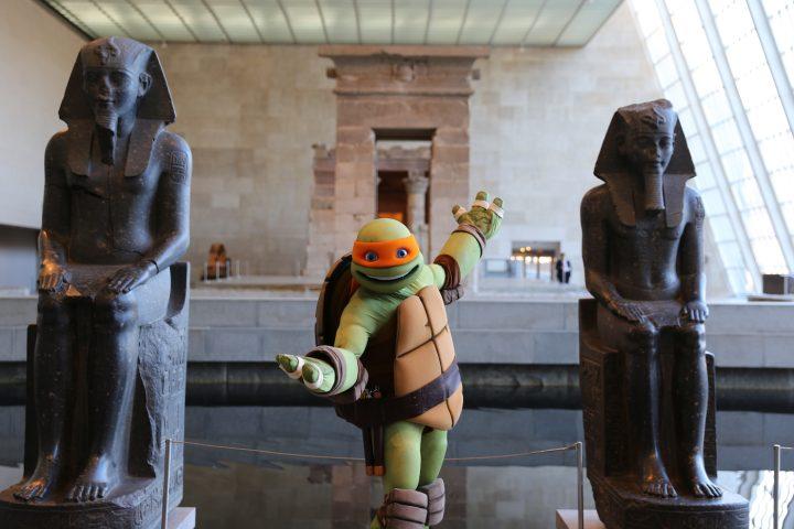 Michelangelo visits the Metropolitan Museum of Art