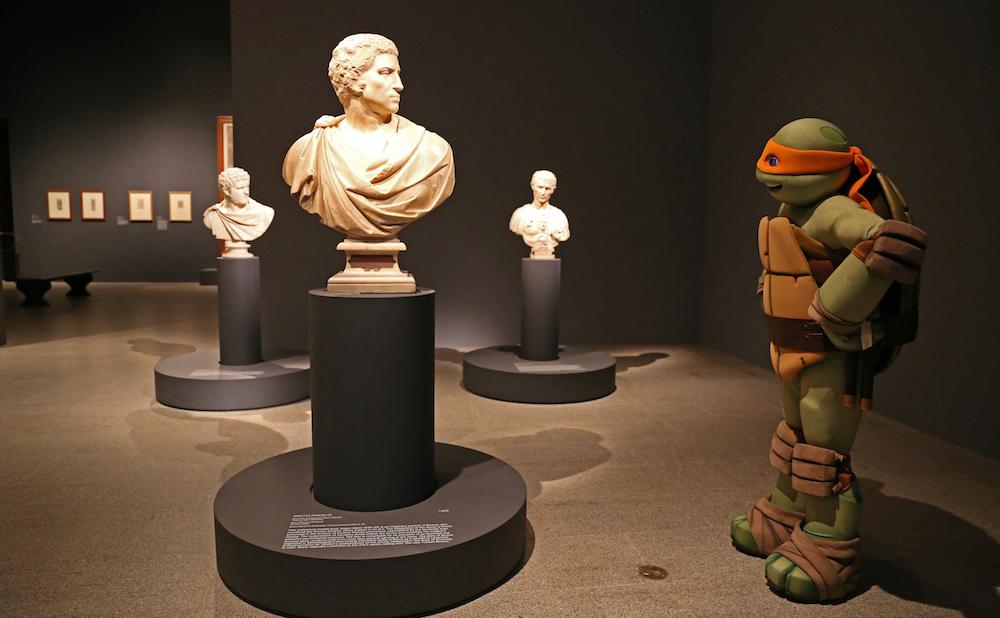 Michelangelo visits the Metropolitan Museum of Art's Michelangelo exhibition