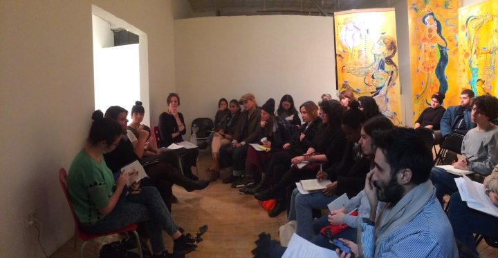 """The crowd at a previous """"Getting Basic"""" event at SOHO20 Gallery (photo courtesy SOHO20 Gallery)"""