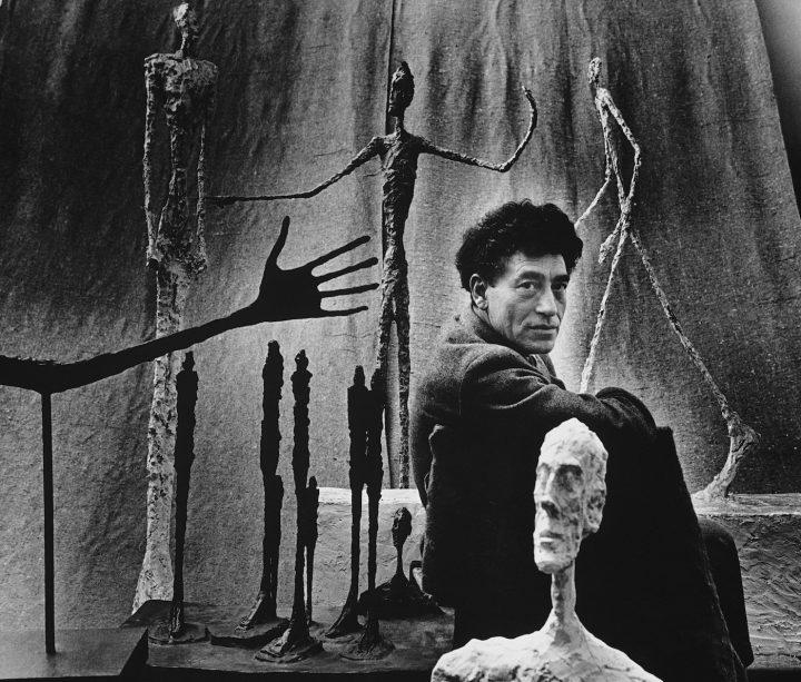 "Gordon Parks, ""Alberto Giacometti and His Sculptures, Paris, France"" (1951), gelatin silver print, 20 x 30 in"