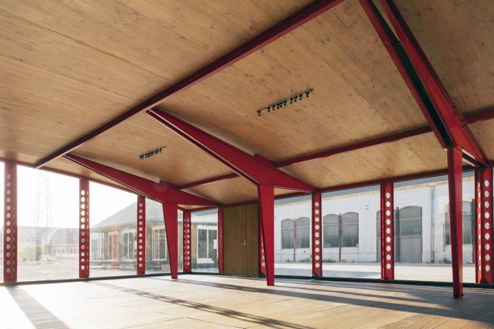 "Jean Prouvé, interior of ""Ecole de Villejuif"" (""Villejuif School,"" 1949)"