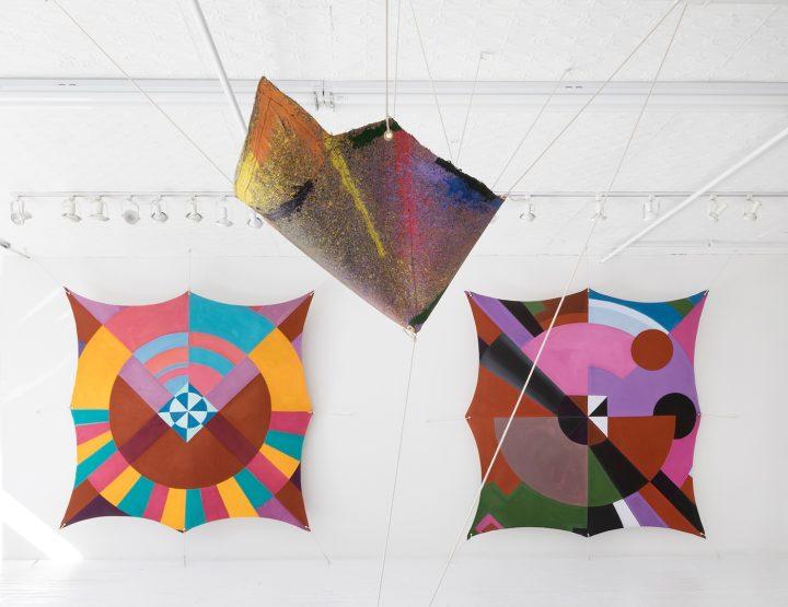 Joe Overstreet Innovation Of Flight At Eric Firestone Gallery Installation View HooDoo Mandala 1970 Untitled 1972