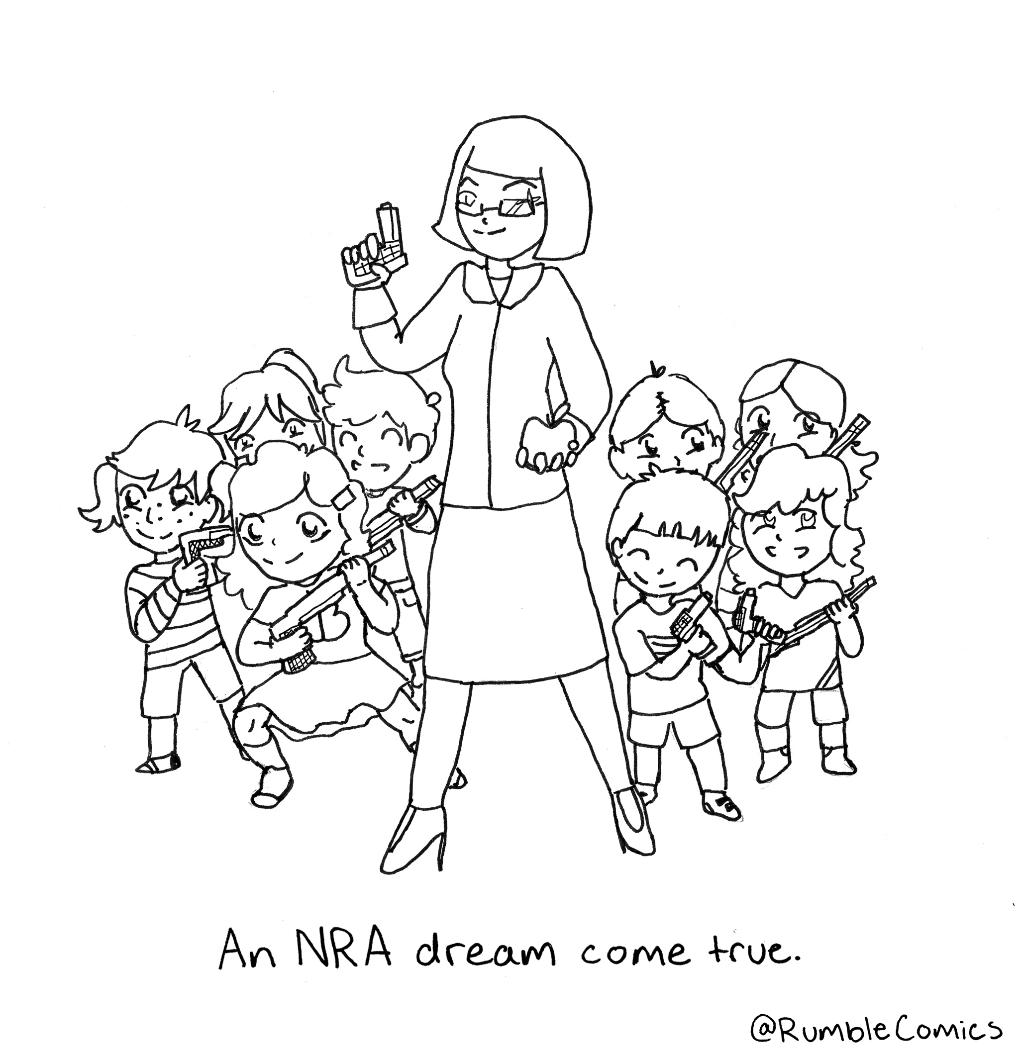 How A 13-Year-Old Cartoonist Responded To The Parkland