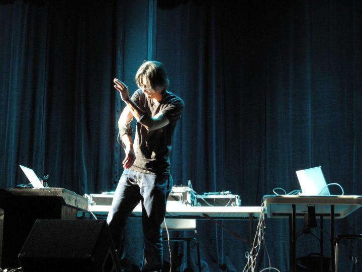 Atau Tanaka performing (photo by Martin Delaney)