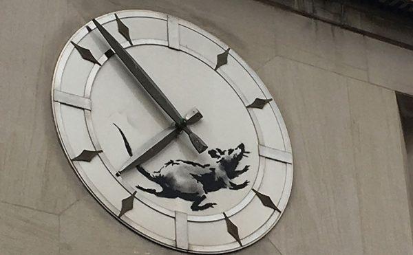 Banksy's new rat at 14th Street and Sixth Avenue