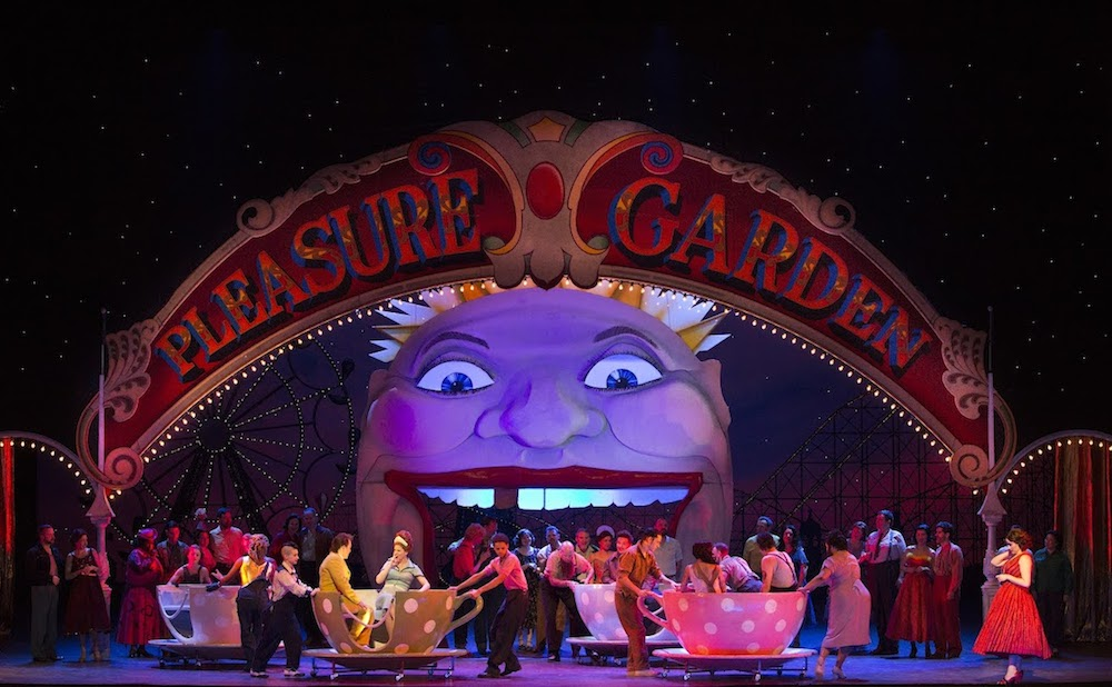A scene from Act II of Mozart's Così fan tutte (photo by Marty Sohl, courtesy the Metropolitan Opera)