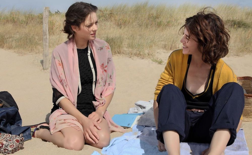 Marion Cotillard (left) and Charlotte Gainsbourg (right) in a scene from Ismael's Ghosts (all images courtesy Magnolia Pictures)
