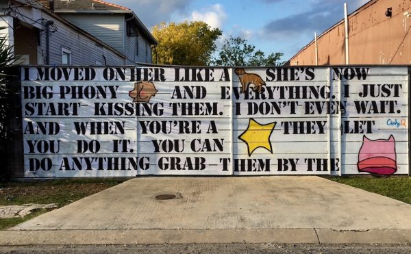 Cashy-D's anti-Trump mural in New Orleans (photo courtesy and © Neal Morris)