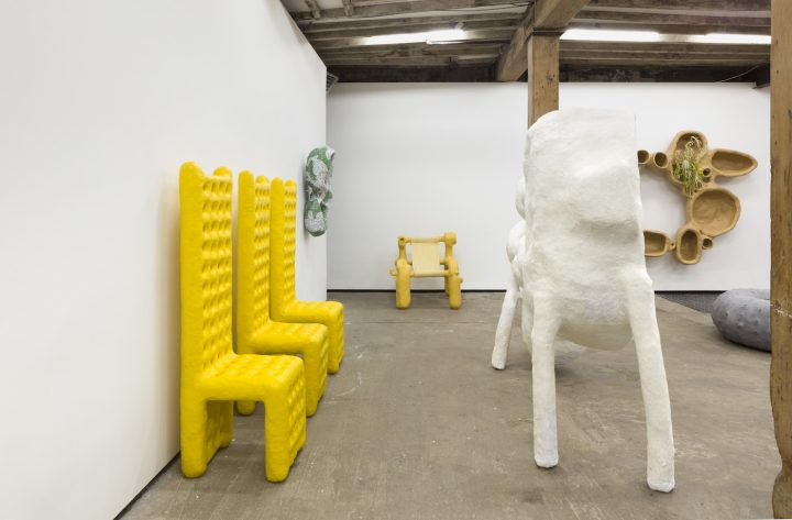 Installation view of Thomas Barger's Growing Up at Salon 94 Design