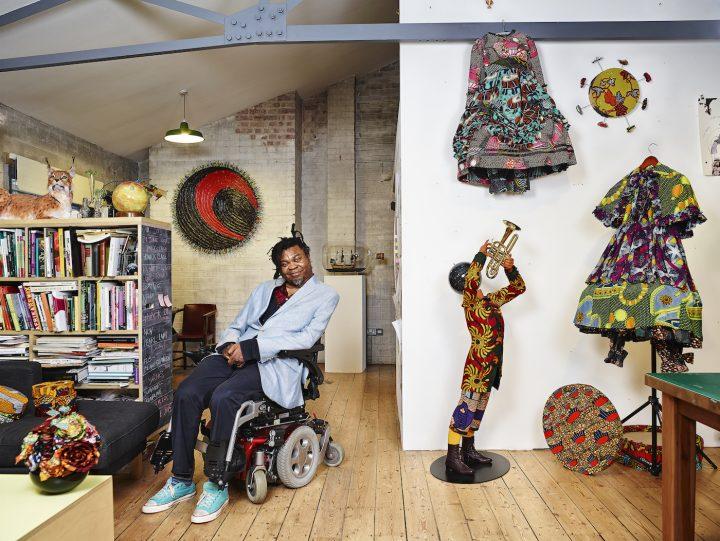 Yinka Shonibare MBE in his London studio (photo by James Mollison, courtesy James Cohan, New York)