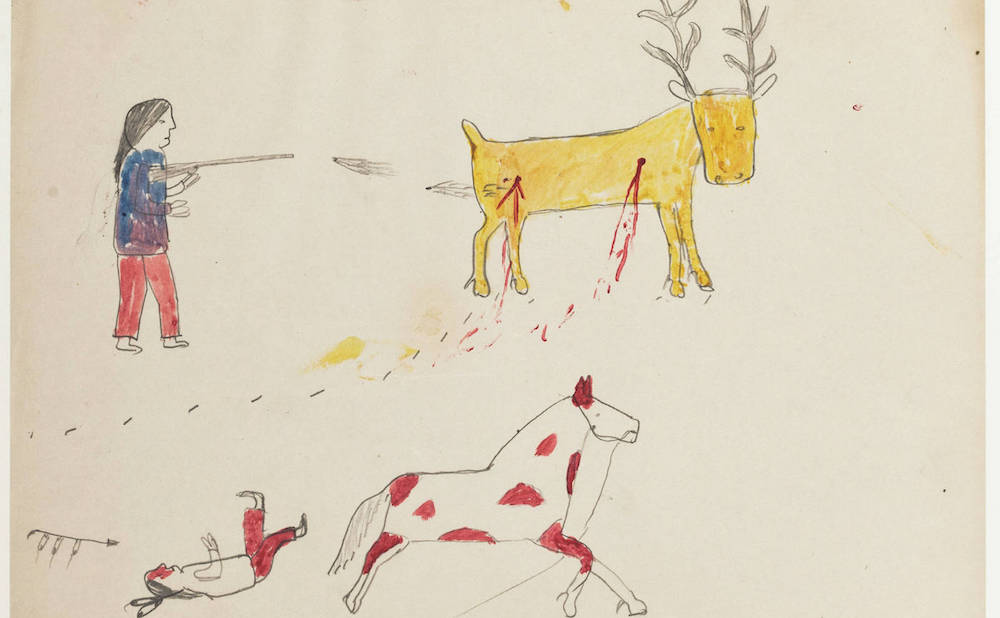 Newly Digitized Collection Of Early 20th Century Lakota Drawings