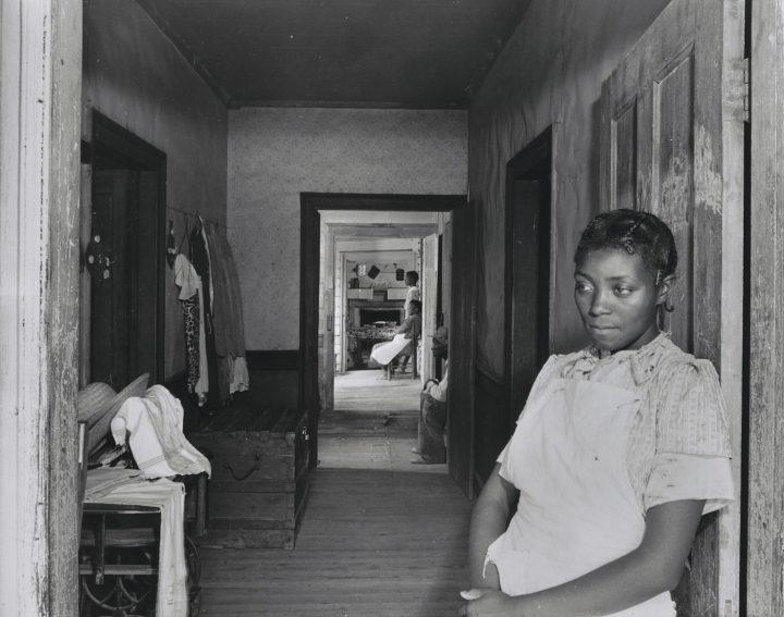 "Jack Delano, ""Interior of Negro Rural House, Greene County, Georgia"" (June 1941), gelatin silver print (courtesy the Museum of Modern Art, New York)"