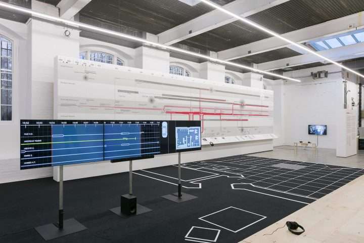 Installation view of Counter Investigations: Forensic Architecture at the Institute of Contemporary Arts, London (photo by Mark Blower)